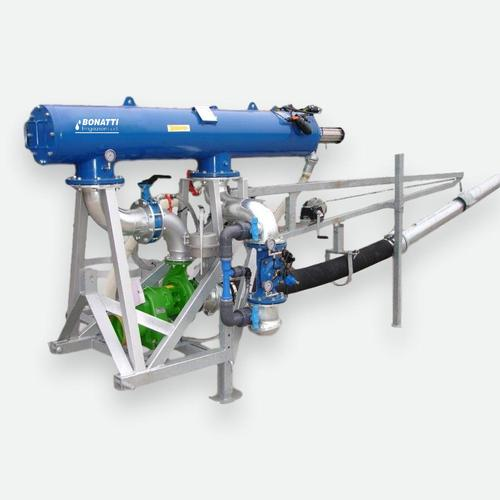 Unità mobile di pompaggio e filtrazione automatica